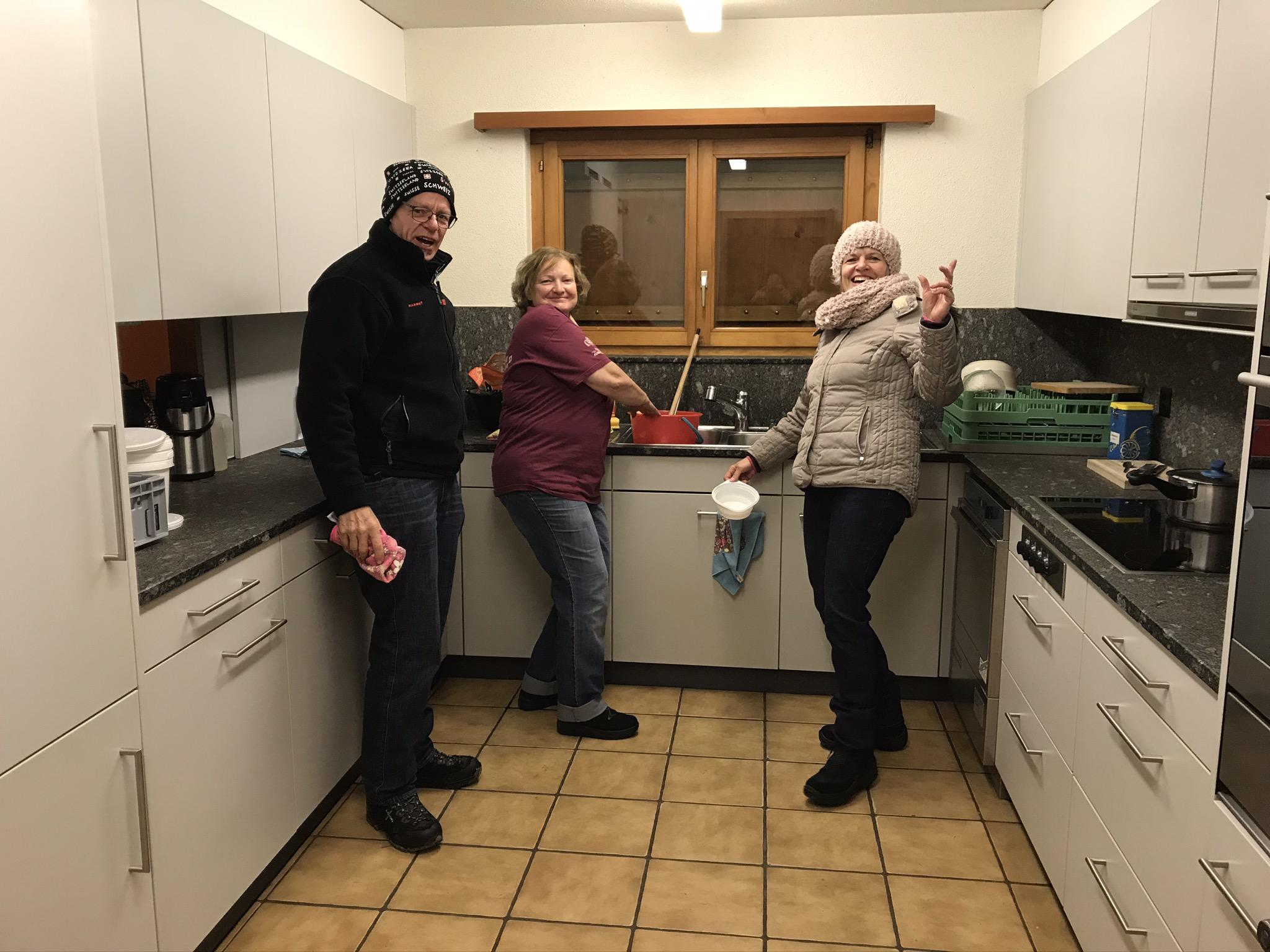 Fleissige Hände in der Küche